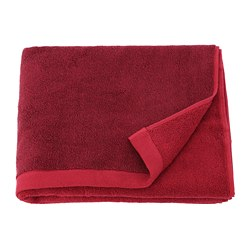 HIMLEÅN - Bath towel, dark red/mélange
