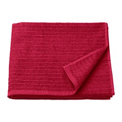 VÅGSJÖN - Bath towel, red