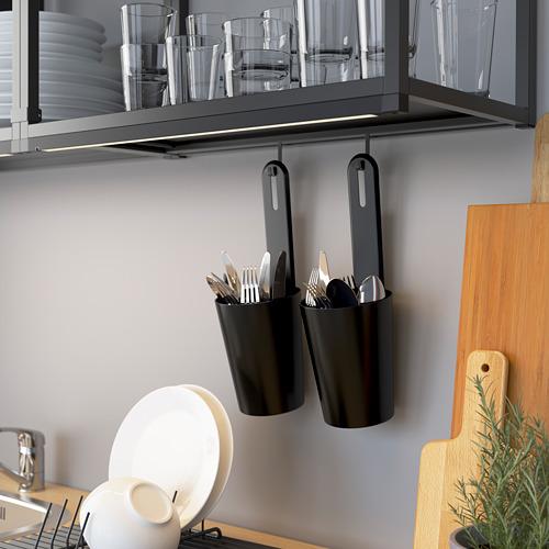 ENHET - rel untuk pengait, antrasit, 37 cm | IKEA Indonesia - PE784282_S4