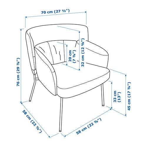 BINGSTA kursi berlengan