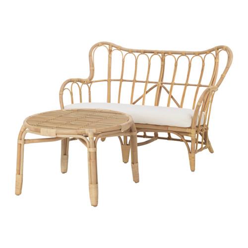 MASTHOLMEN set kursi 2 dudukan, luar ruang