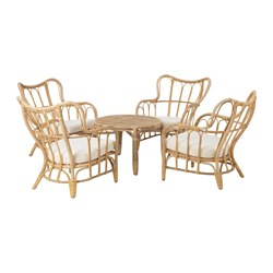 MASTHOLMEN - 4-seat conversation set, outdoor, rattan