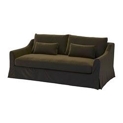 FÄRLÖV - Sofa 3 dudukan, Djuparp hijau zaitun tua