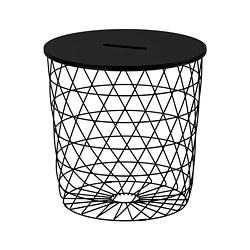 KVISTBRO - Meja penyimpanan, hitam