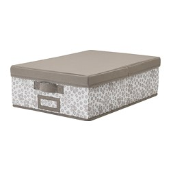 STORSTABBE - Box with lid, beige
