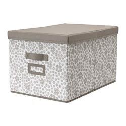 STORSTABBE - Kotak dengan penutup, krem