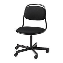 ÖRFJÄLL - Swivel chair, black/Vissle black