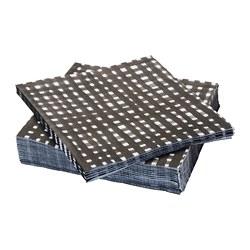 URLADDA - Paper napkin, black/white