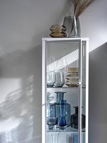BAGGEBO - kabinet dengan pintu kaca, logam/putih, 34x30x116 cm | IKEA Indonesia - PH178058_S4