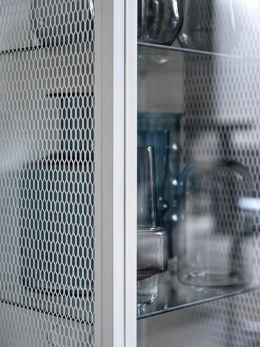 BAGGEBO - kabinet dengan pintu kaca, logam/putih, 34x30x116 cm | IKEA Indonesia - PH178059_S4