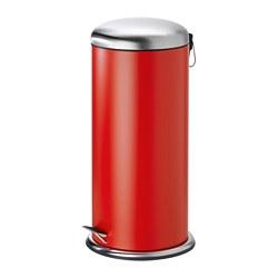 MJÖSA - Tempat sampah berpedal, merah