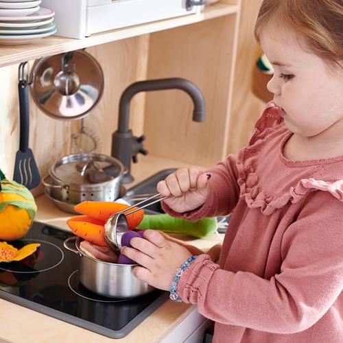 DUKTIG peralatan masak mainan, set isi 5