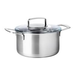 IKEA 365+ - Pot with lid, stainless steel/glass