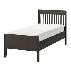 IDANÄS - Bed frame, dark brown/Lönset