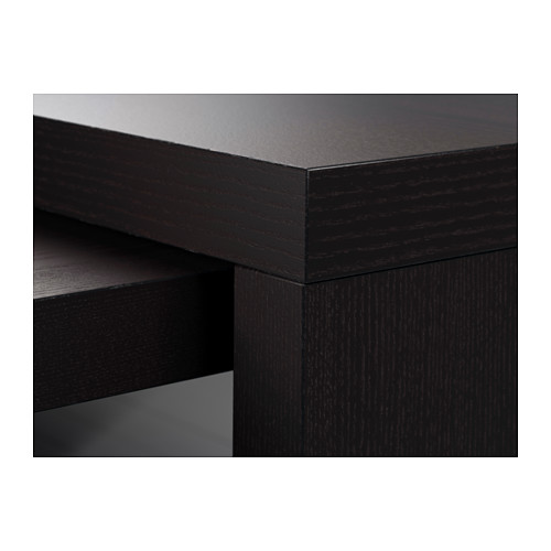 MALM meja dengan panel tarik