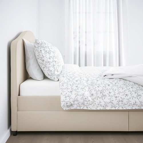 HAUGA tempat tidur brlps, 4 ktk pnympnn