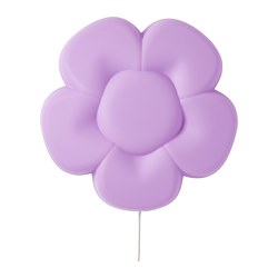 UPPLYST - LED wall lamp, flower lilac