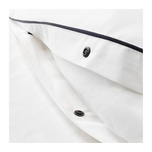 KUNGSBLOMMA sarung quilt dan 2 sarung bantal