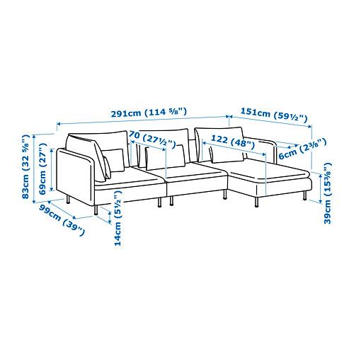 SÖDERHAMN sofa 4 dudukan