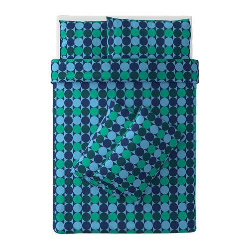 KROKUSLILJA sarung quilt dan 4 sarung bantal