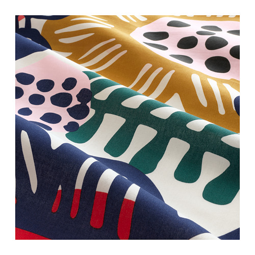 SOMMARASTER sarung quilt dan 4 sarung bantal