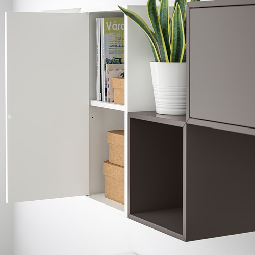 EKET - kombinasi kabinet dpasang di dnding, putih/abu-abu muda/abu-abu gelap, 175x35x70 cm   IKEA Indonesia - PE730901_S4
