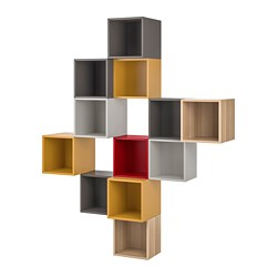 EKET - Kombinasi kabinet dpasang di dnding, aneka warna 1