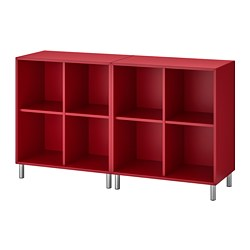 EKET - Cabinet combination with legs, red