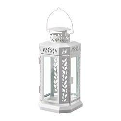 ENRUM - Lentera u lilin balok, lr/dlm rg, putih