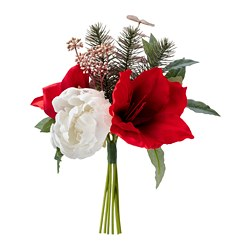 SMYCKA - Artificial bouquet, in/outdoor Amaryllis/red