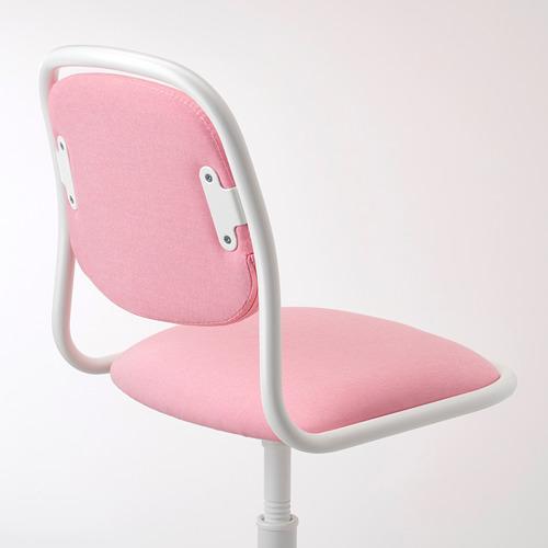 ÖRFJÄLL - kursi untuk meja anak, putih/Vissle merah muda | IKEA Indonesia - PE731036_S4