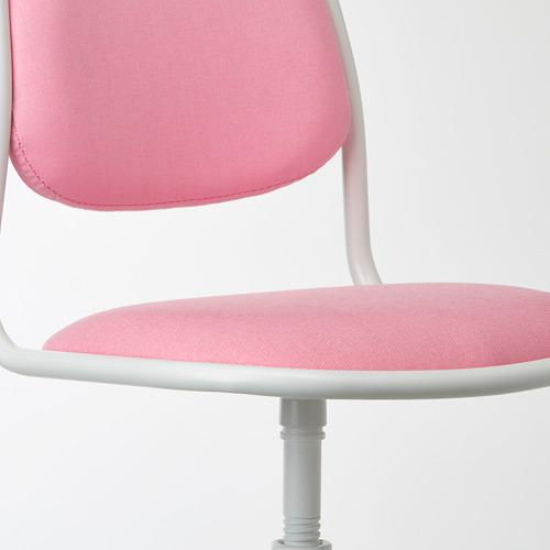 ÖRFJÄLL - kursi untuk meja anak, putih/Vissle merah muda | IKEA Indonesia - PE731037_S4