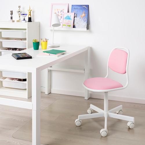 ÖRFJÄLL - kursi untuk meja anak, putih/Vissle merah muda | IKEA Indonesia - PE731032_S4