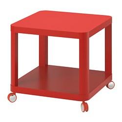 TINGBY - Meja samping beroda, merah