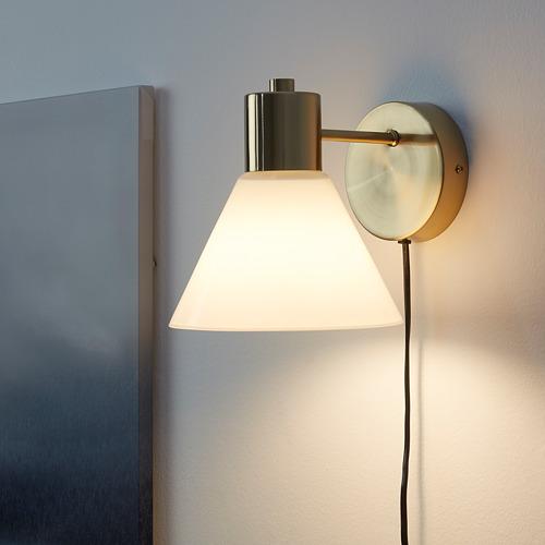 FLUGBO - lampu dinding, warna kuningan/kaca   IKEA Indonesia - PE785398_S4