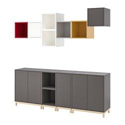 EKET - Kombinasi kabinet dengan kaki, aneka warna 1