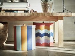 ILLBATTING - Decoration box, set of 2, multicolour