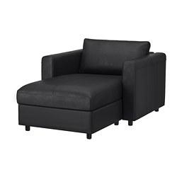 VIMLE - Chaise longue, Grann/Bomstad hitam