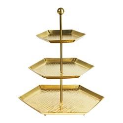 LJUVARE - Tempat saji, tiga tingkat, warna emas