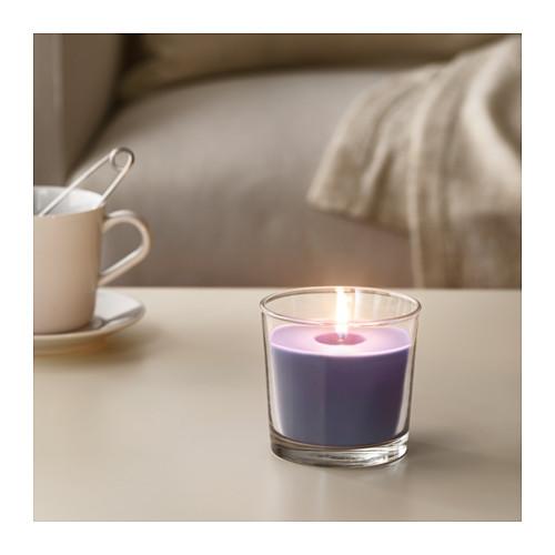 SINNLIG lilin beraroma dalam gelas