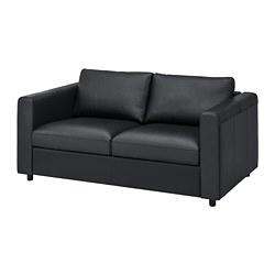 VIMLE - Sofa 2 dudukan, Grann/Bomstad hitam