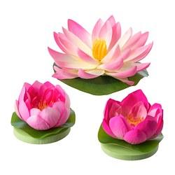 SMYCKA - Bunga tiruan mngmbng set isi 3, dalam/luar ruang Water lilies