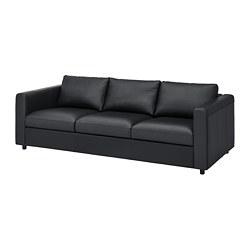 VIMLE - 3-seat sofa, Grann/Bomstad black
