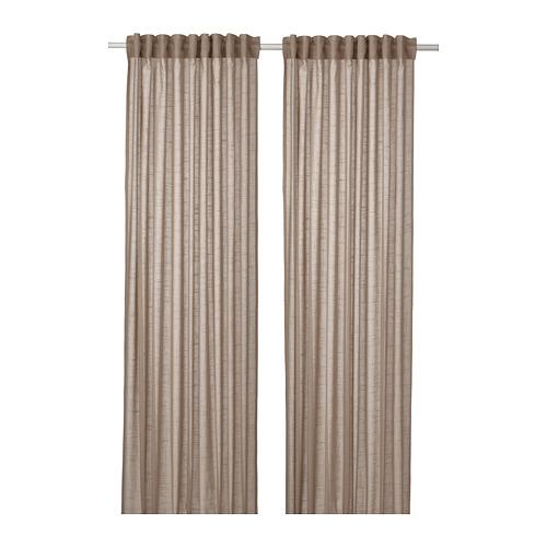 SILVERLÖNN - sheer curtains, 1 pair, beige, 145x250 cm   IKEA Indonesia - PE785763_S4