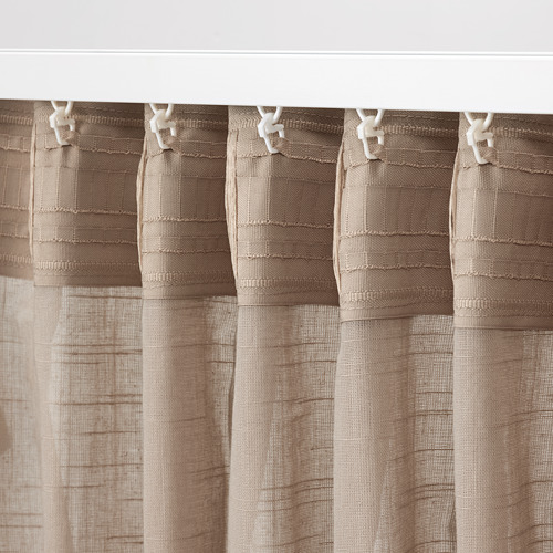SILVERLÖNN - sheer curtains, 1 pair, beige, 145x250 cm   IKEA Indonesia - PE785762_S4
