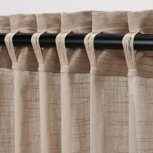 SILVERLÖNN - sheer curtains, 1 pair, beige, 145x250 cm   IKEA Indonesia - PE785765_S4