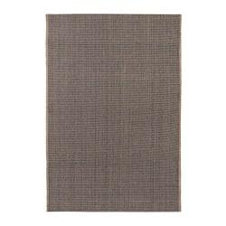 LISBJERG - Karpet, anyaman datar, hitam/warna alami