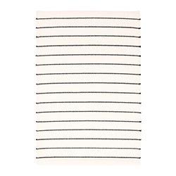 TÖRSLEV - Karpet, anyaman datar, hitam/putih