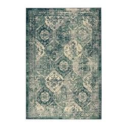 VONSBÄK - VONSBÄK, karpet, bulu tipis, hijau, 133x195 cm