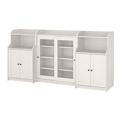 HAUGA - Kombinasi penyimpanan, putih, 244x46x116 cm